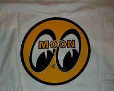 Rat Rod Hot Rod Moon Yellow Logo T-Shirt