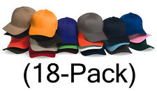 New Flexfit Hat Fitted Blank Baseball Cap 18-pack, 6277