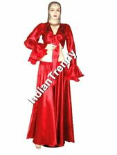 Red Satin Skirt Ruffle Top Choli Belly Dance Costume