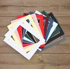 Packs of 10* Black White Ivory Grey Blue Pink Picture Photo Mounts