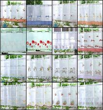 "VOILE CAFE NET CURTAIN PANELS ~ 21 Great Designs 18"" & 24"" Drops"