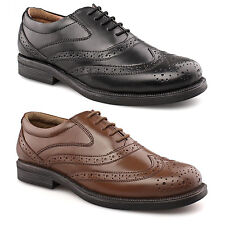 Mens New Black & Brown Wide Fitting Leather Brogues Shoes 6 7 8 9 10 11 12 13 14