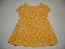 GYMBOREE BABY GIRAFFE YELLOW GIRAFFE SKIN WOVEN DRESS 0 3 6 12 18 24  NWT
