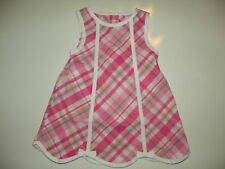 GYMBOREE FLAMINGO FLOWERS PINK PLAID 2-PC SET DRESS 6 12 18 24 NWT