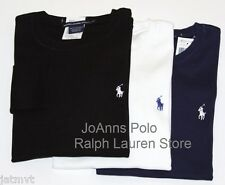 NEW POLO RALPH LAUREN WOMENS BLACK WITH PURPLE PONY /WHITE BLUE PONY T SHIRT