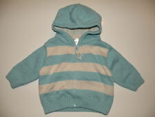 GYMBOREE TINY COPTER BLUE STRIPE HOODED SWEATER 0 3 6 12 18 NWT