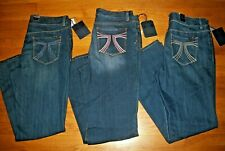 NWT SEVEN 7 EMBROIDERED BOOT CUT JEANS SZ 14 16 18