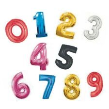 """34"""" LARGE FOIL BALLOON NUMBER 0-9, 6 COLOURS AVAILABLE"""