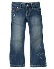 GYMBOREE FLOWER SHOWERS DENIM PAINT SPATTER JEANS PANTS 3 4 5 6 7 8 10 12 NWT