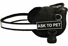 Dog Harness with Ask To Pet Velcro Patch Label Tag