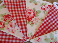 Cath Kidston  Rosali & Gingham Cotton Fabric Bunting