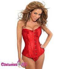 New Red Busiter Boned Lace up corset