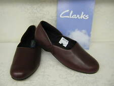 Clarks King Ross Wine Leather Slippers