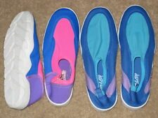 Womens WATER SHOES AQUA SOCKS for Pool or Beach PINK OR BLUE MULTI COLOR NEW