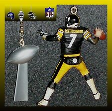 NFL PITTSBURGH STEELERS WARD/ROETHLISBERGER FIGURE & LOMBARDI TROPHY FAN PULLS
