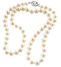 Classic White Cultured Freshwater Pearl necklace with a pretty silver clasp
