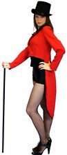 RED & BLACK Dance/Stage/Hen night/Fancydress TAILCOAT SIZES sml - PLUS
