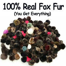 REAL FOX FUR CELL PHONE KEY CHAIN TAIL FASHION WINTER  ACCESSORY