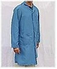 New ECOWear Premium ESD Lab coats Front Button-Full Length - Blue - High quality