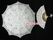 Bridal Parasol Wedding  Lace Umbrella  and Fan  H106s