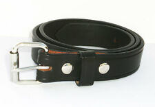 """1 1/4"""" AMISH HAND MADE WORK BELT. 13oz LEATHER STAINLESS ROLLER BUCKLE. 3 COLORS"""