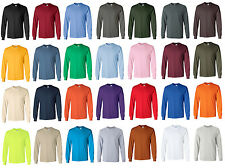 Gildan Ultra Cotton Long Sleeve T-Shirt, 4 sizes adult S-XL, In 28 Colors, 2400
