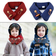 Trendy Baby Toddler Kids Boys Girls Warm Woolen Neck Warmer Wraps Muffler Scarf