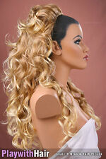 Cascading 3/4 Hair Piece Extension - COLOUR CHOICES! Blonde Strawberry Red