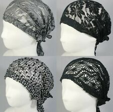 WOMENS HAT HEADBAND HEADWRAP BANDANA ELASTIC HEADWEAR STRETCH HAIR ACCESSORY CAP