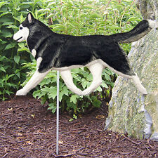 Siberian Husky Dog Figure Garden Stake.Home Yard & Garden Decor Products & Gifts