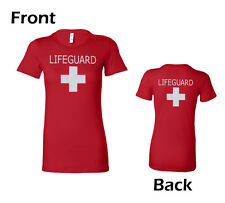 Bella My Favorite Tee, Ladies Lifeguard Uniform T-shirt, Red, Size S-XL (6004LG)