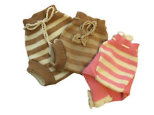 Striped Diaper Cover 100% MERINO WOOL baby cloth nappy soaker longies leggings
