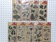 Inkadinkado Clear Stamps Halloween Brand New