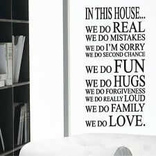 In This House Art Wall Quotes Wall Stickers Wall Decals Wall Mural Wall Art