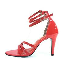 Red High Heel Court Sandals Pump Shoes Transvestite MSPVC7952RC UK 8 9 10 11