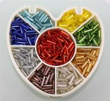 40g 6mm / 9mm Glass Bugle Beads Silver Lined 9 COLOURS Choice