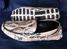 Cool!! GENUINE PYTHON SNAKE SKIN LEATHER CASUAL LOAFERS MENS SHOES