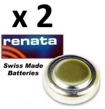2 X RENATA SWISS SILVER OXIDE WATCH BATTERY 377 371 315 317 321 361 LR44 397 364