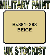 BS381-388 BEIGE MILITARY PAINT METAL STEEL HEAT RESISTANT ENGINE  VEHICLE