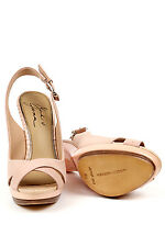 Mark & James Badgley Mischka Maybel Rose Slingback Leather Sandals Shoes Heels