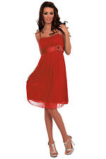 New Pleated Cocktail Evening Prom Night Party Dress Dresses Designer H1119 Red