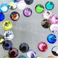 Colors Crystal Iron on Flatback Hot fix Rhinestones you pick ( 2 / 3 / 4 / 5 )mm