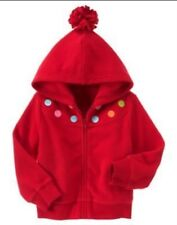 GYMBOREE COZY CUTIE RED DOT FLEECE CARDIGAN HOODED JACKET 3 4 5 6 7 8 10 12 NWT