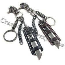 Men's Punk Heavy Duty Leather Belt Loop Tool Keeper Holder Key Ring chain k142