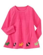 GYMBOREE CHEERY ALL THE WAY PINK SCOTTIE HEM ALINE TOP 3 4 5 6 7 8 9 10 12 NWT