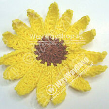 5 pcs DIY Hand Knitted Crochet Daisy Embellishmen mix color