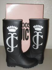 NIB Juicy Couture SLICK 2 Rain Boots with Crown Logo in Black
