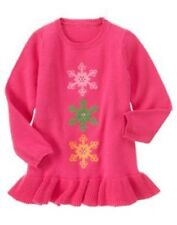 GYMBOREE CHEERY ALL THE WAY PINK SNOWFLAKE TUNIC SWEATER TOP 3 4 5 6 7 8 10 12