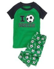 GYMBOREE SLEEPWEAR  LOVE SOCCER  2pc PAJAMAS 6 12 18 24 2T 3 4 5 6 7 8 10 12 NWT