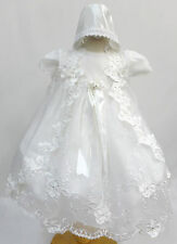 Infant Baby Girl Christening Baptism Dress Gown Size 01234(0-30M) White